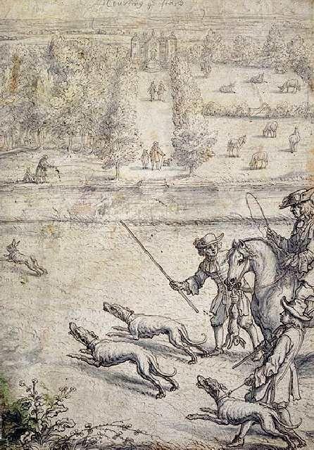 (cc) Künstler: Francis Barlow (1686), Hetzjagd, wilipedia
