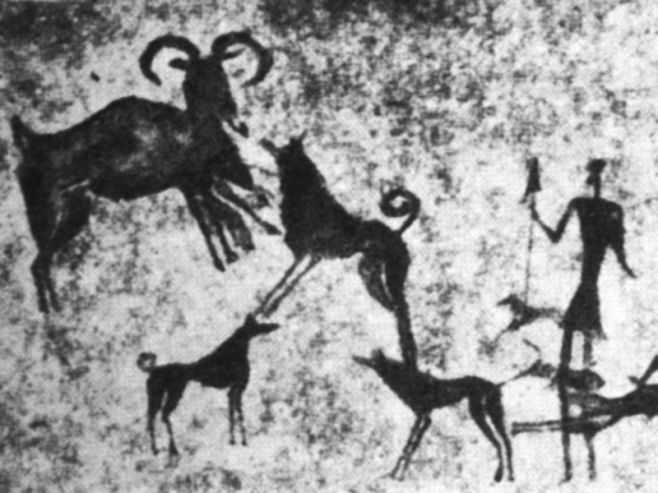 (cc) gemeinfrei, neolithische Höhlenmalerei , Spanien, wikipdia